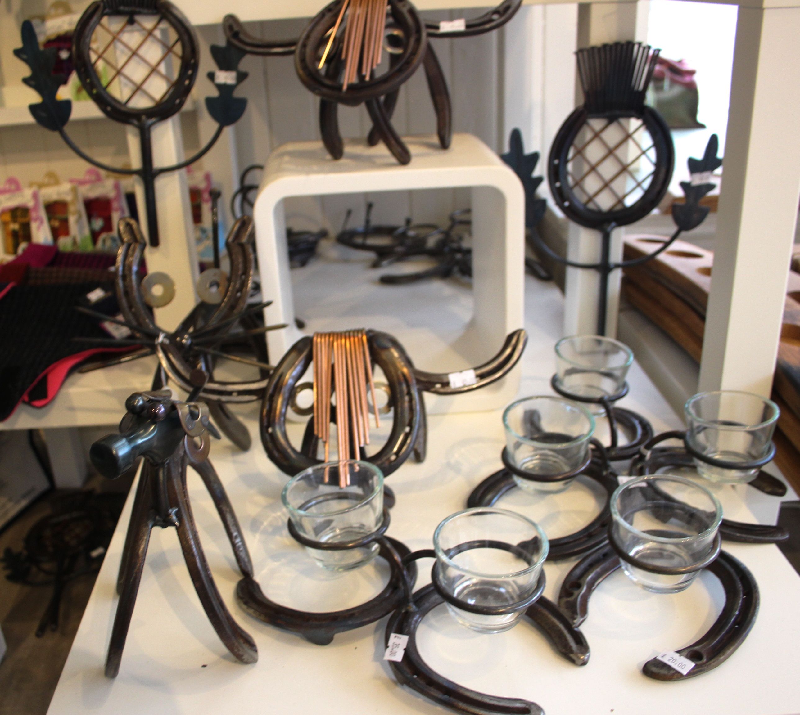 Horse Shoe Art Candle Holders For Sale