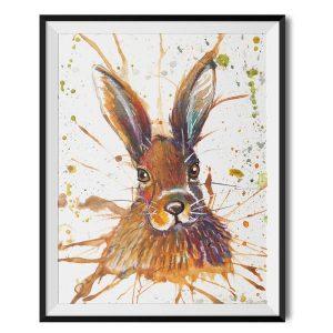 KW - Splatter Hare print