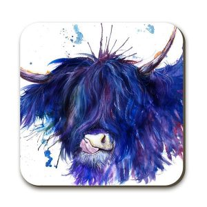 KW - Splatter Highland Cow - Coaster
