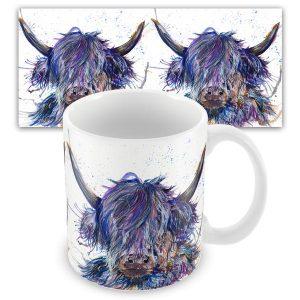 KW - Splatter Scruffy Highland Cow - Mug
