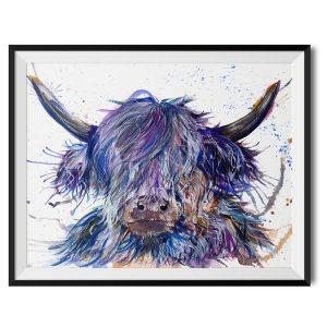 KW - Splatter Scruffy Highland Cow print