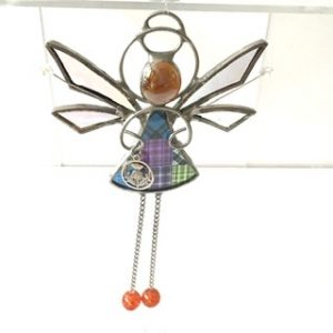 Stained Glass Tartan Angel